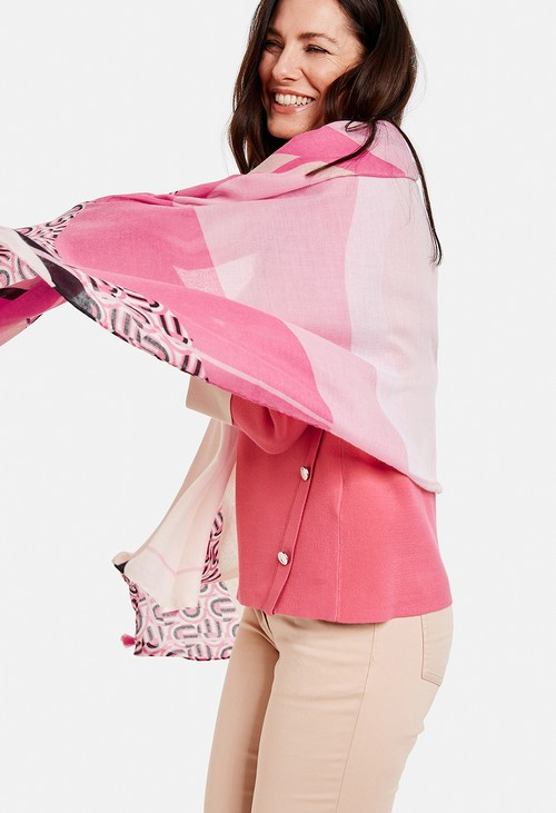 Gerry Weber All Over Pink Pattern Scarf
