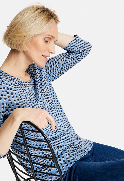 Gerry Weber Blue Minimal Pattern Top