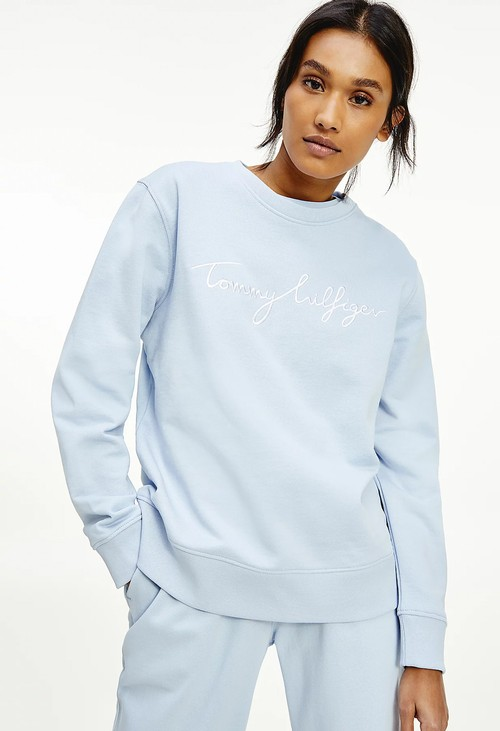 Tommy Hilfiger Breezy Blue Crew Neck Sweatshirt
