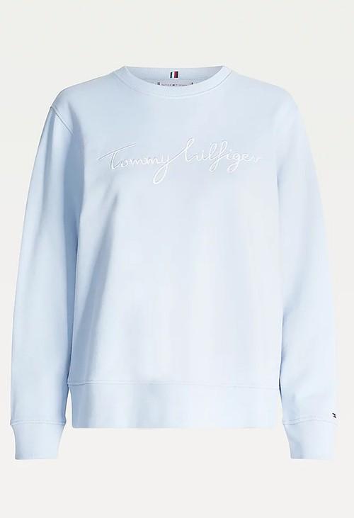 Tommy Hilfiger Breezy Blue Crew Neck Sweatshirt