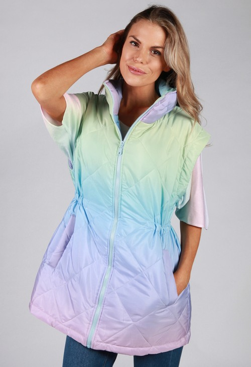 Pamela Scott Faded Rainbow Gilet