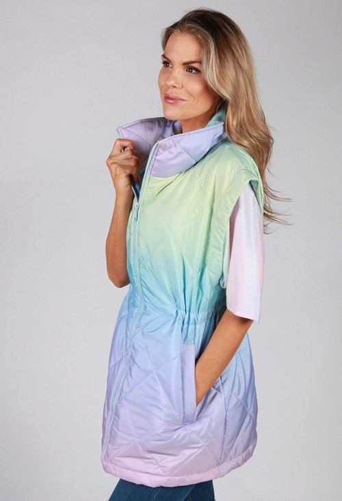 Pamela Scott *Pre-Order* Faded Rainbow Gilet
