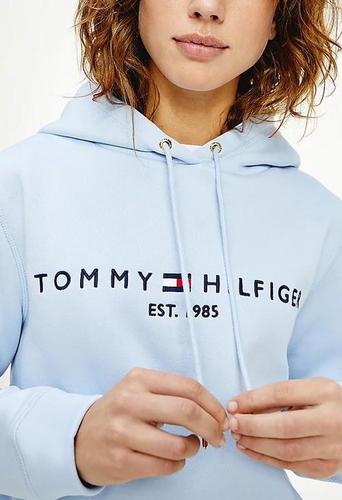Tommy Hilfiger Breezy Blue Essential Fleece Logo Hoody