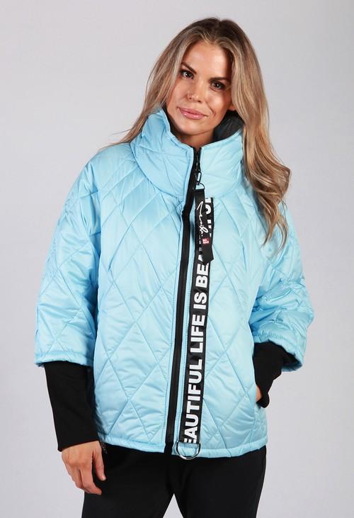Pamela Scott Sky Blue Quilted Jacket