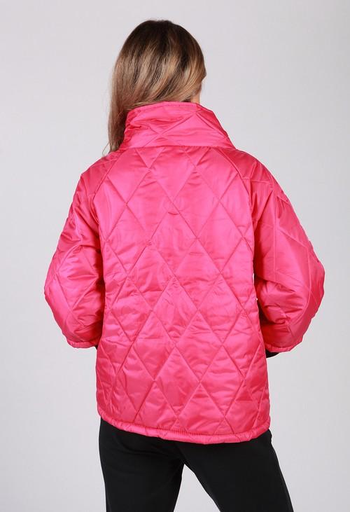 Zapara Fuchsia Quilted Jacket