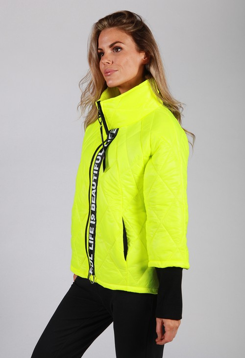 Zapara Luminous Lime Quilted Jacket