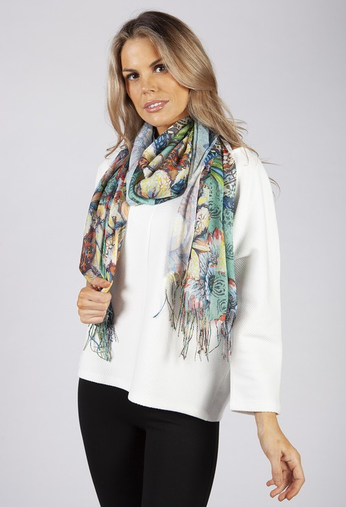 PS Accessories Sunflower Printed Scarf