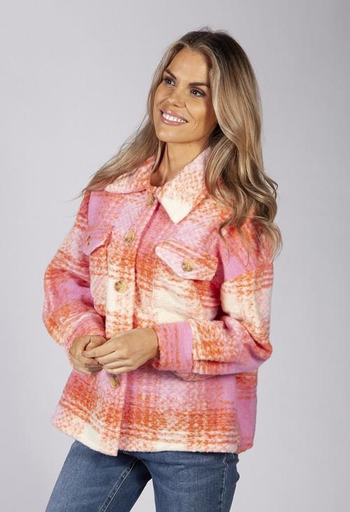 Pamela Scott Sunset Orange Wool Jacket