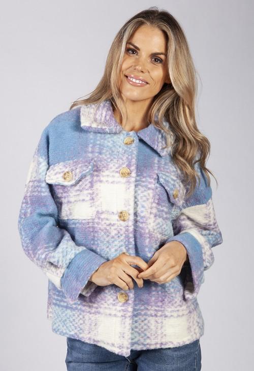 Pamela Scott Summer Sky Blue Wool Jacket