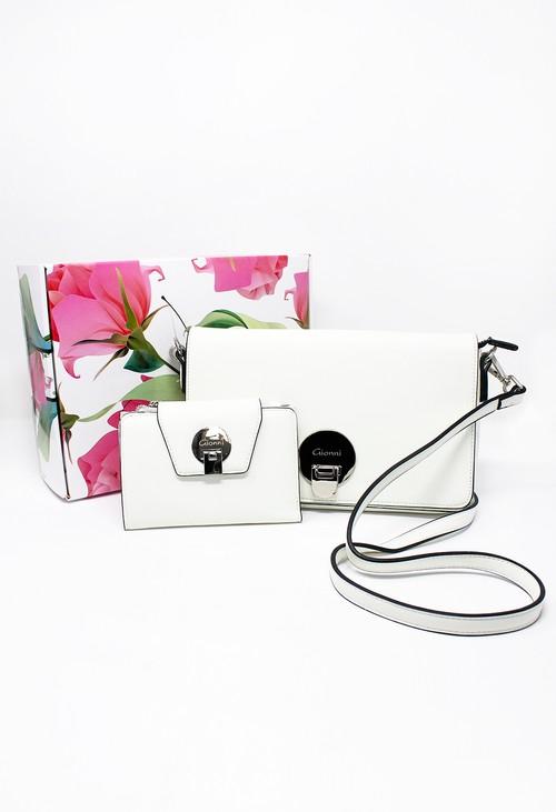 Gionni Paloma Off-White Handbag and RFID Wallet Gift Set