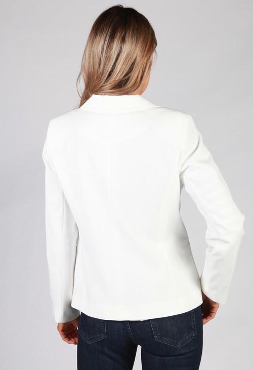 Zapara Off White Button Blazer