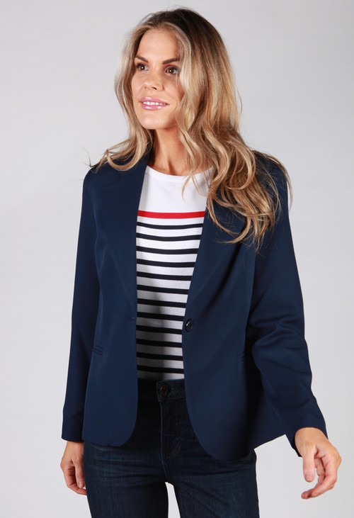 Zapara Navy Button Blazer