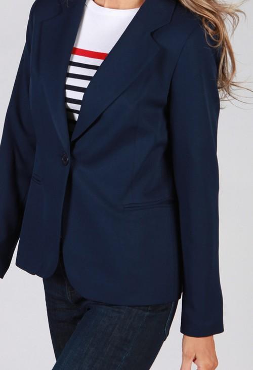 Zapara Navy Button Blazer