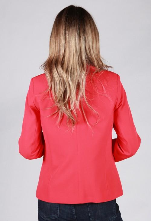 Zapara Coral Red Button Blazer
