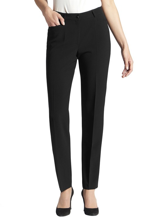 Basler PANTS DIANA WITH POCKETS AND BELT LOOPS BLACK