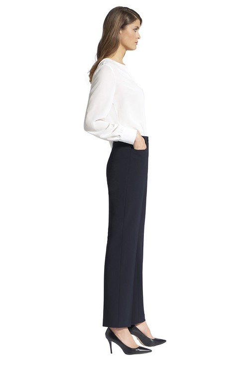 Basler PANTS DIANA WITH POCKETS AND BELT LOOPS NAVY
