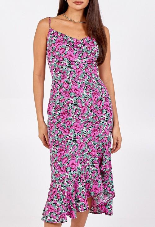 Pamela Scott Ruffle Hem Cami Dress