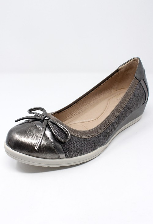 Shoe Lounge Low Wedge Pewter Lightweight Pumps
