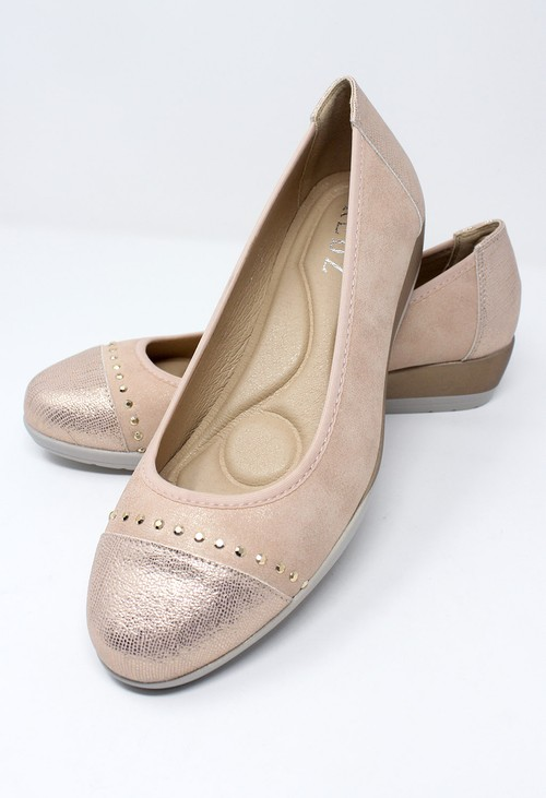 Shoe Lounge Low Wedge Pink Lightweight Pumps