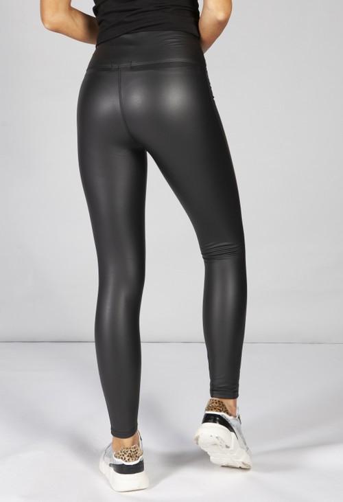 PS Leggings Black Faux Leather Leggings