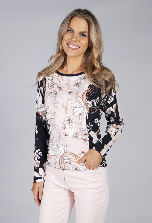 Betty Barclay fine knit with flower print