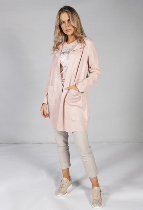 Betty Barclay Open long blazer in soft pink