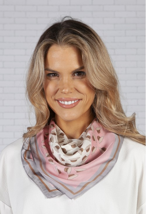 PS Accessories square printed scarf
