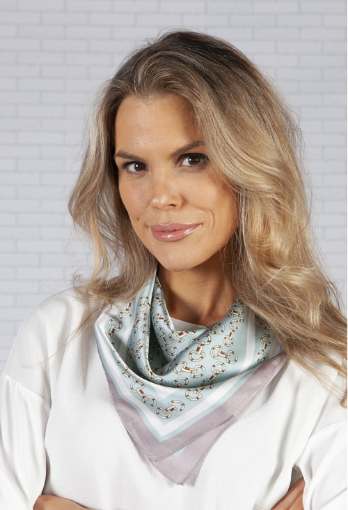 PS Accessories square scarf in a chain print