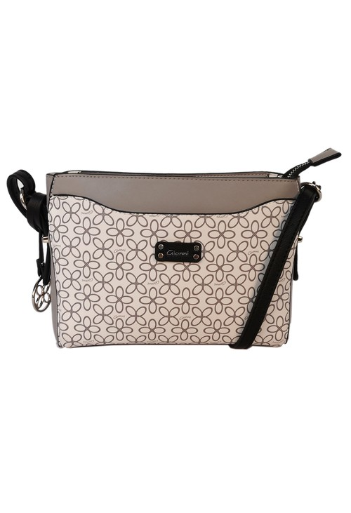 Gionni floral print crossbody bag in grey