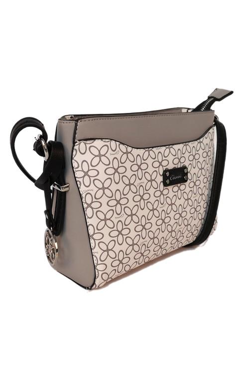 Gionni floral print crossbody bag in grey