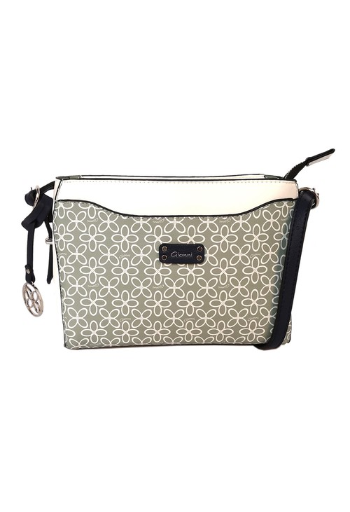 Gionni floral print crossbody bag in mint