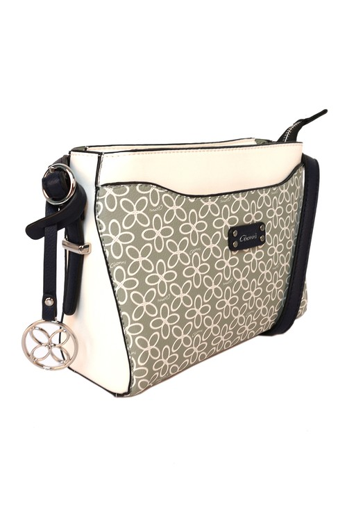 Gionni floral print crossbody bag in mint