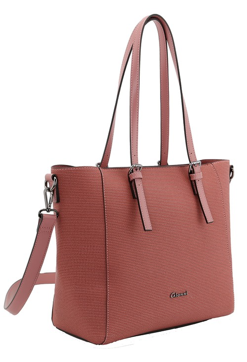 Gionni textured shopper bag in rose