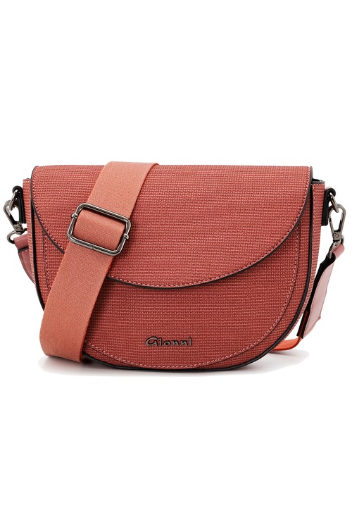 Gionni Gionni textured flapover saddle bag in rose