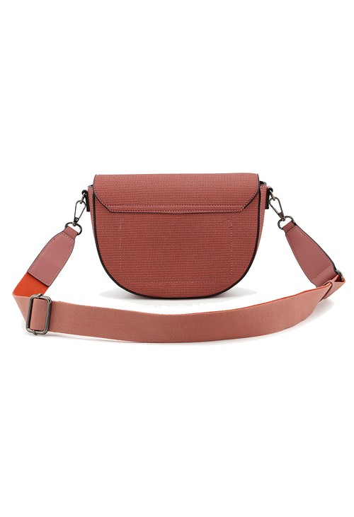 Gionni Gionni textured flapover saddle bag in rose