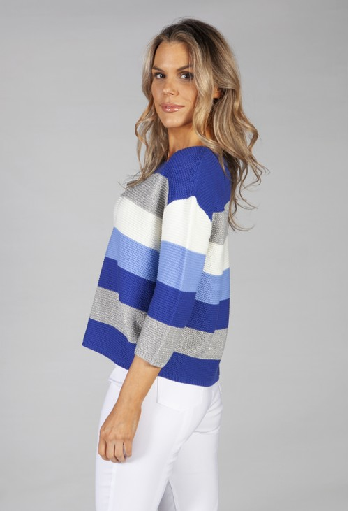 Betty Barclay colourblock knit in royal blue