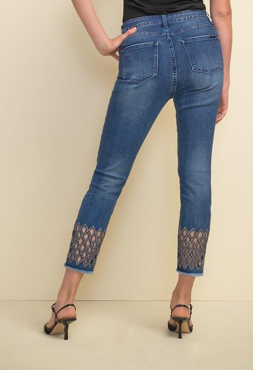 Joseph Ribkoff Diamond Cut-out Jeans