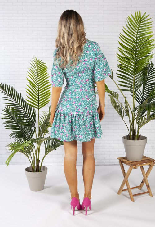 Pamela Scott PETITE FLOWER TIERED DRESS