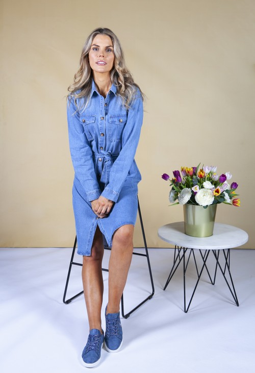 Pamela Scott denim shirt dress