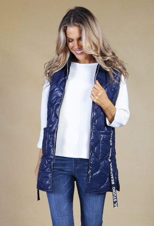 Zapara *Pre-Order* navy quilted gilet