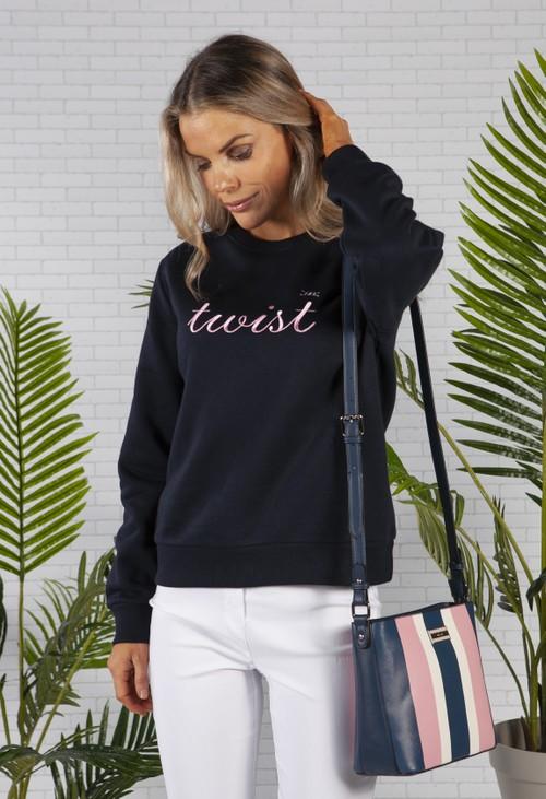 Twist Navy Twist Sweatshirt