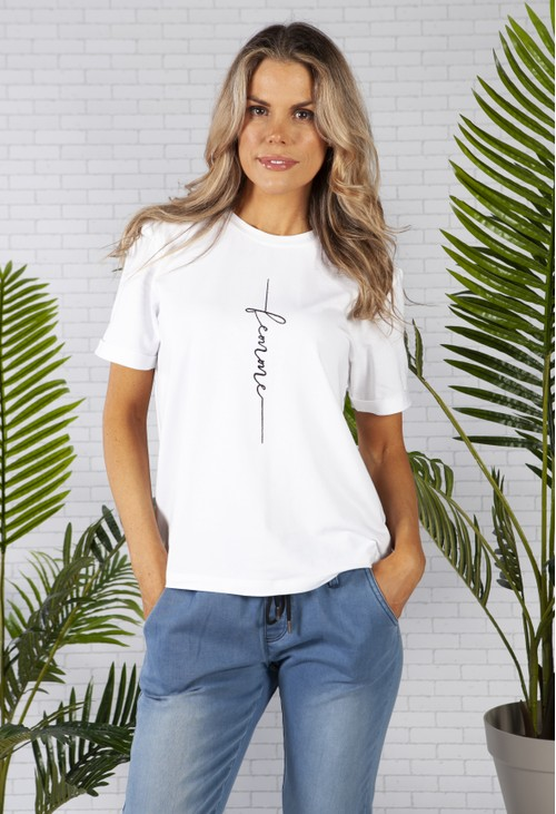 ERFO Statement T-shirt in White