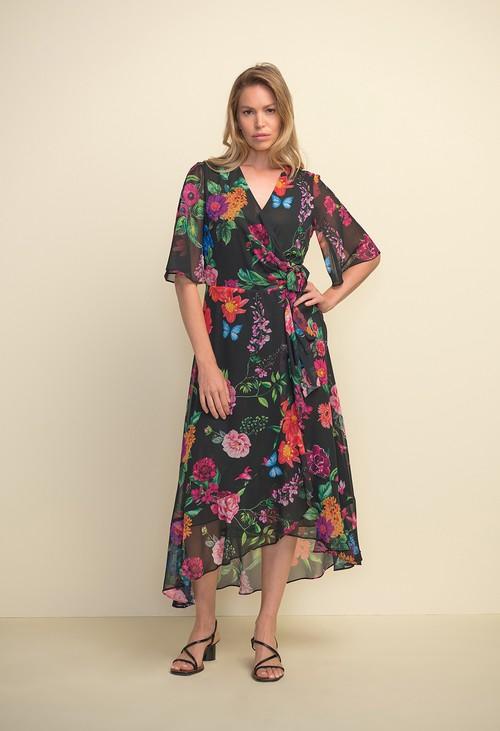 Joseph Ribkoff Floral Wrap Dress