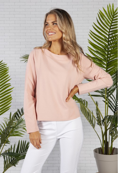 Betty Barclay Soft Ribbed Top in Pink