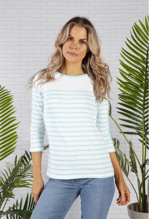 Twist Summer Stripe Cotton Top
