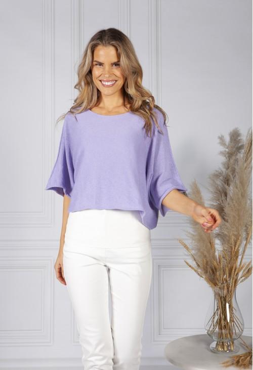 Pamela Scott Perfect Lightweight Summer Pullover in Soft Lilac