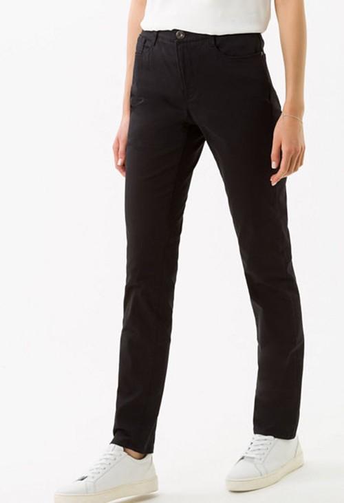 Brax Carola Short Leg Jeans in Perma Black