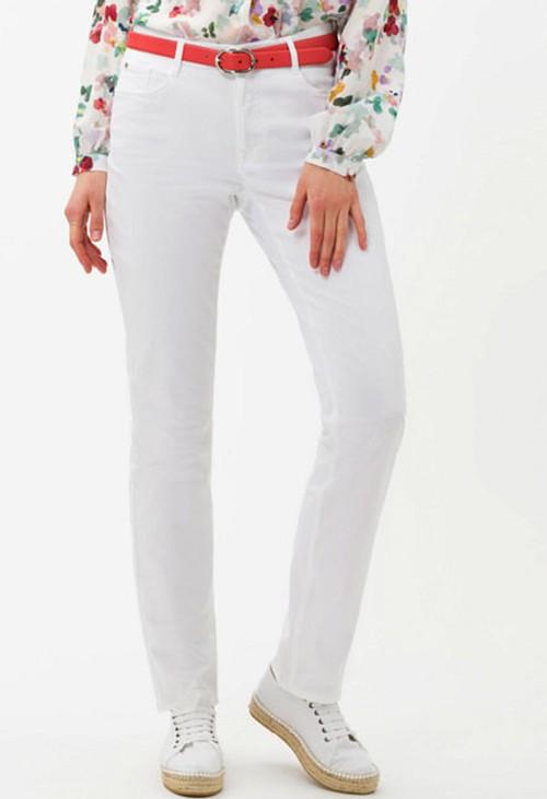 Brax Carola Style in White Regular Leg
