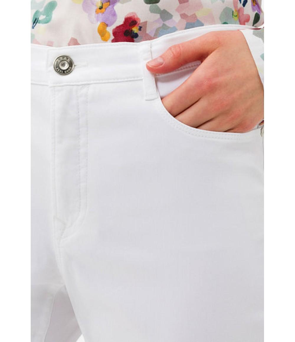 Brax Carola Style in White Short Leg