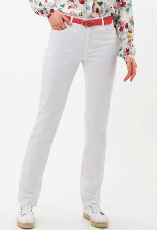 Brax Mary Style in White Regular Leg
